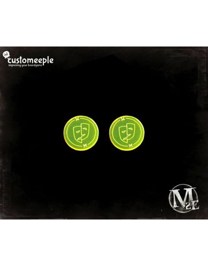 Custom Meeple Malifaux: Mood Swing Markers (2)