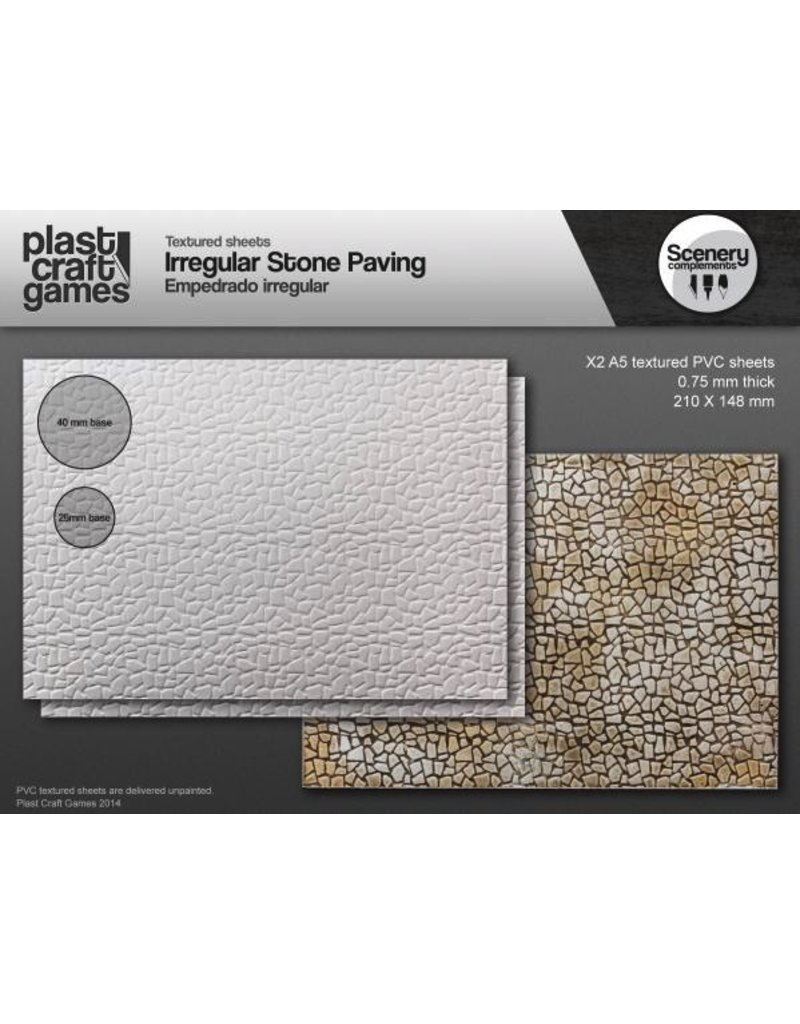 Plast Craft 28mm Scenery Compliments: Irregular Stone Paving
