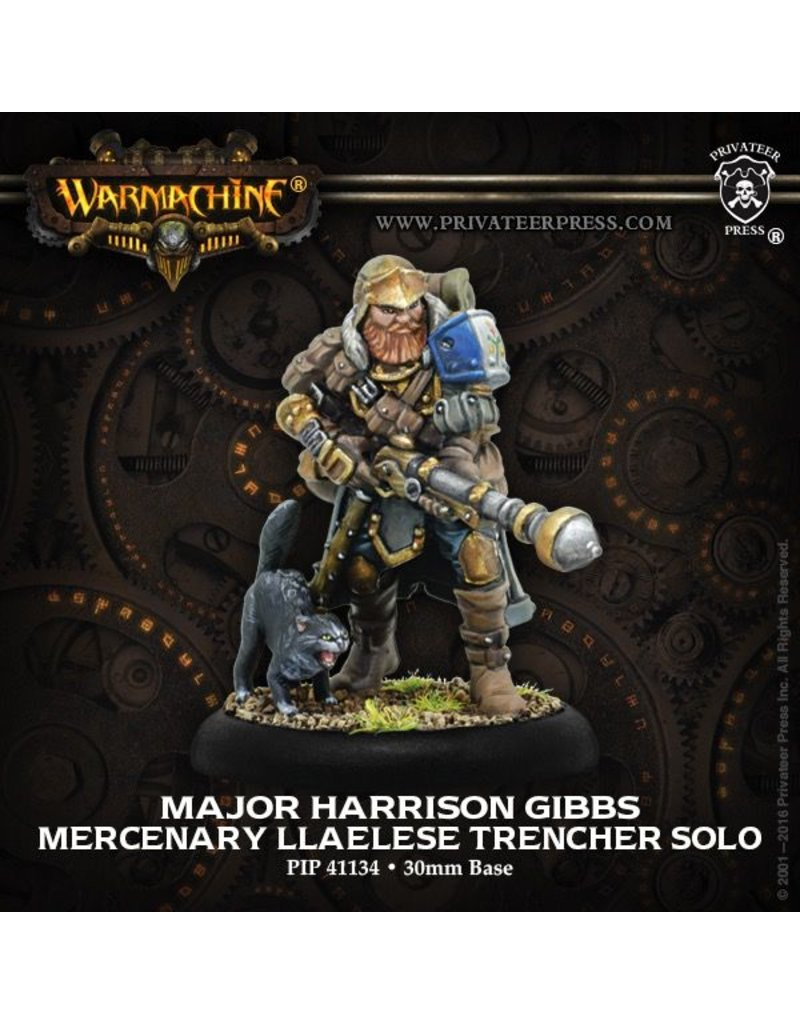 Warmachine Hordes\ PIP41134 Mercenaries: Major Harrison Gibbs Llaelese