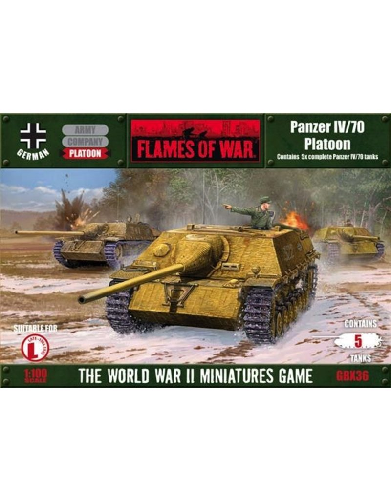 Flames of War GBX36 German Panzer IV/70 V Platoon
