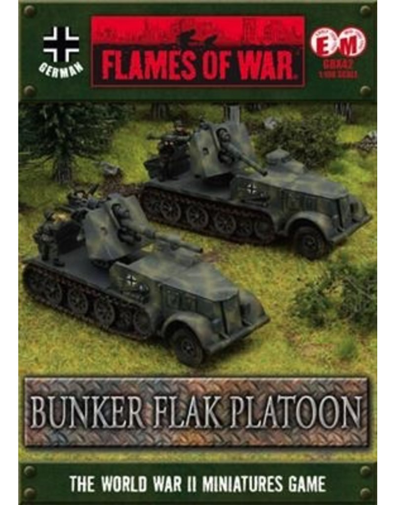 Flames of War GBX42 German Bunker FlaK Platoon