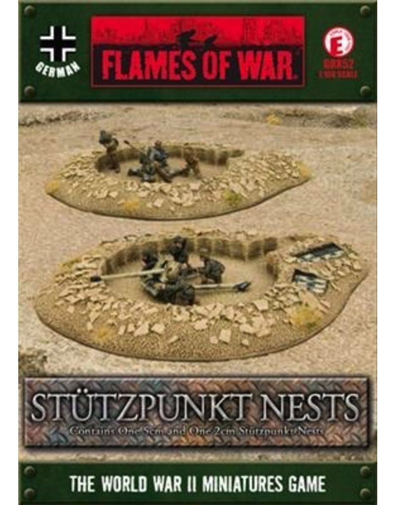 Flames of War GBX52 German Stuzpunkt Nests