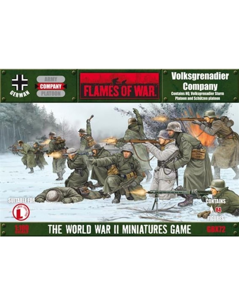 Flames of War GBX72 Volksgrenadier Company (winter)