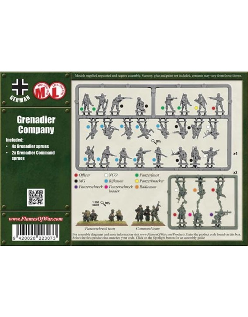 Flames of War GBX81 Grenadier Company (Plastic)