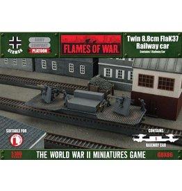 Flames of War GBX86 Twin 8.8cm FlaK Railway car
