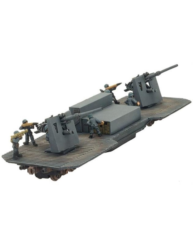 Flames of War GBX86 Twin 8.8cm FlaK Railway car