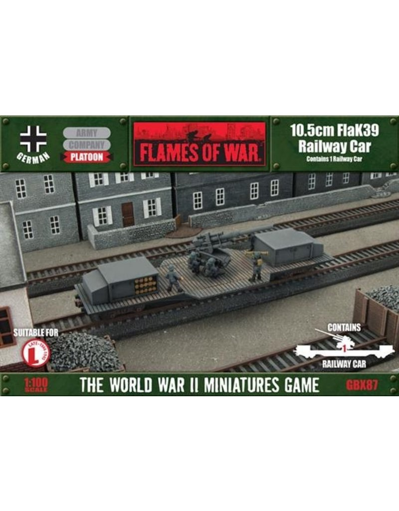 Flames of War GBX87 10.5cm FlaK Railway Car