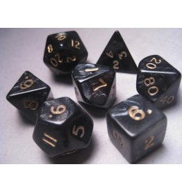 Mystic Keeper Mystic Keeper Gaming Dice: Dragonscale Black Polyhedral Set (7)
