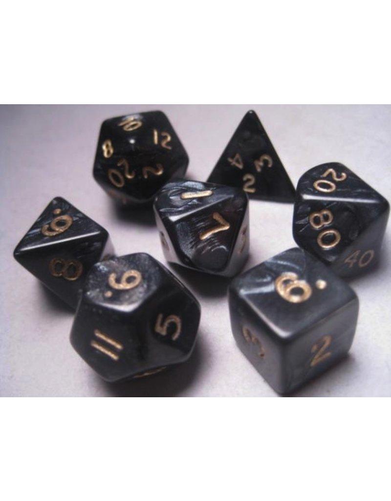 Mystic Keeper Mystic Keeper Gaming Dice: Dragonscale Black Polyhedral Set (7)