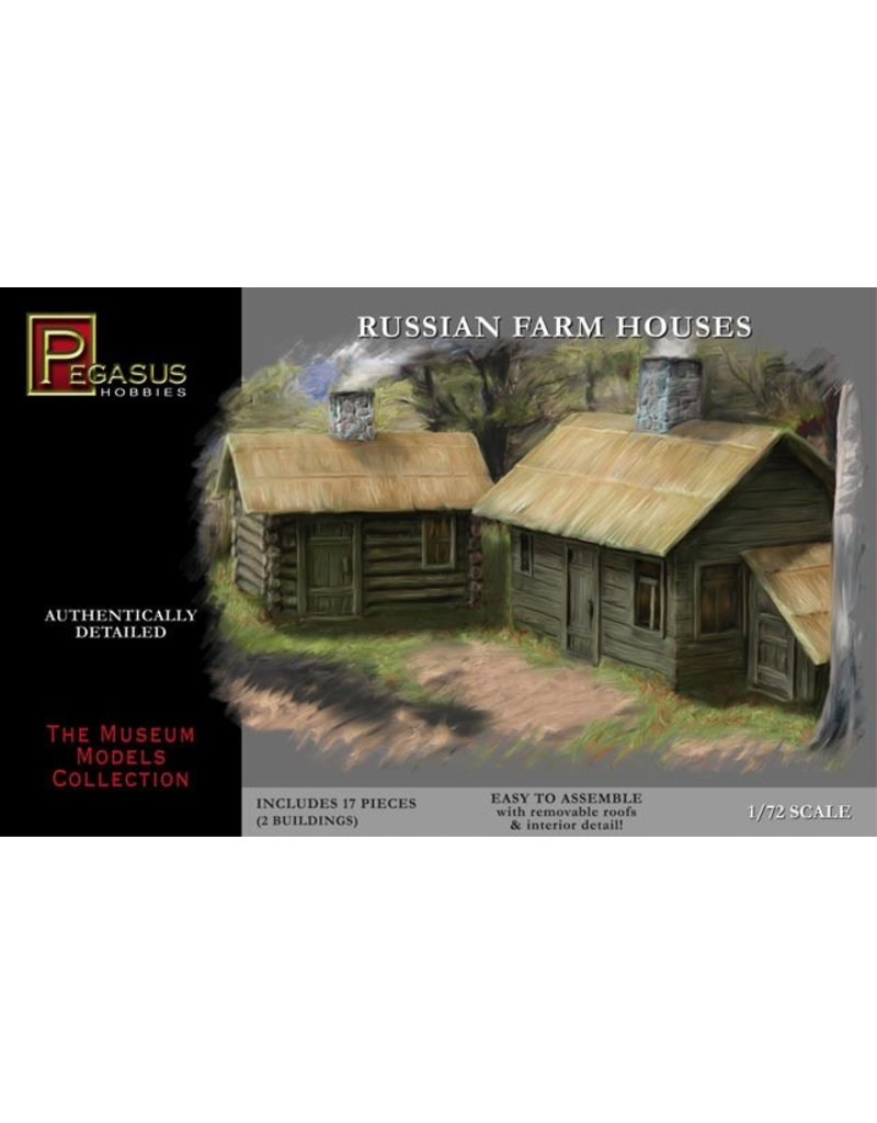 Pegasus Hobbies Pegasus Russian Farm Houses 1:72