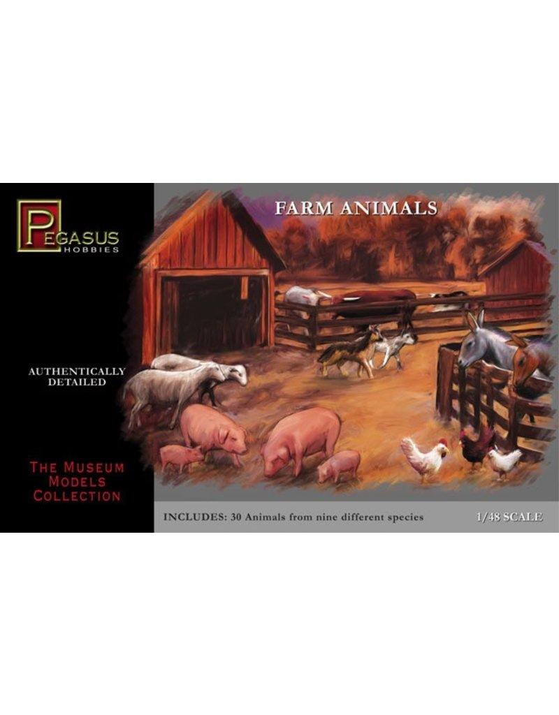 Pegasus Hobbies Pegasus Farm Animals 1:48