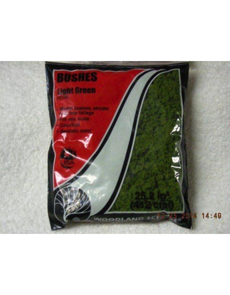 Woodland Scenics Light Green Bushes Clump-Foliage (18 Cubic Inch Bag)