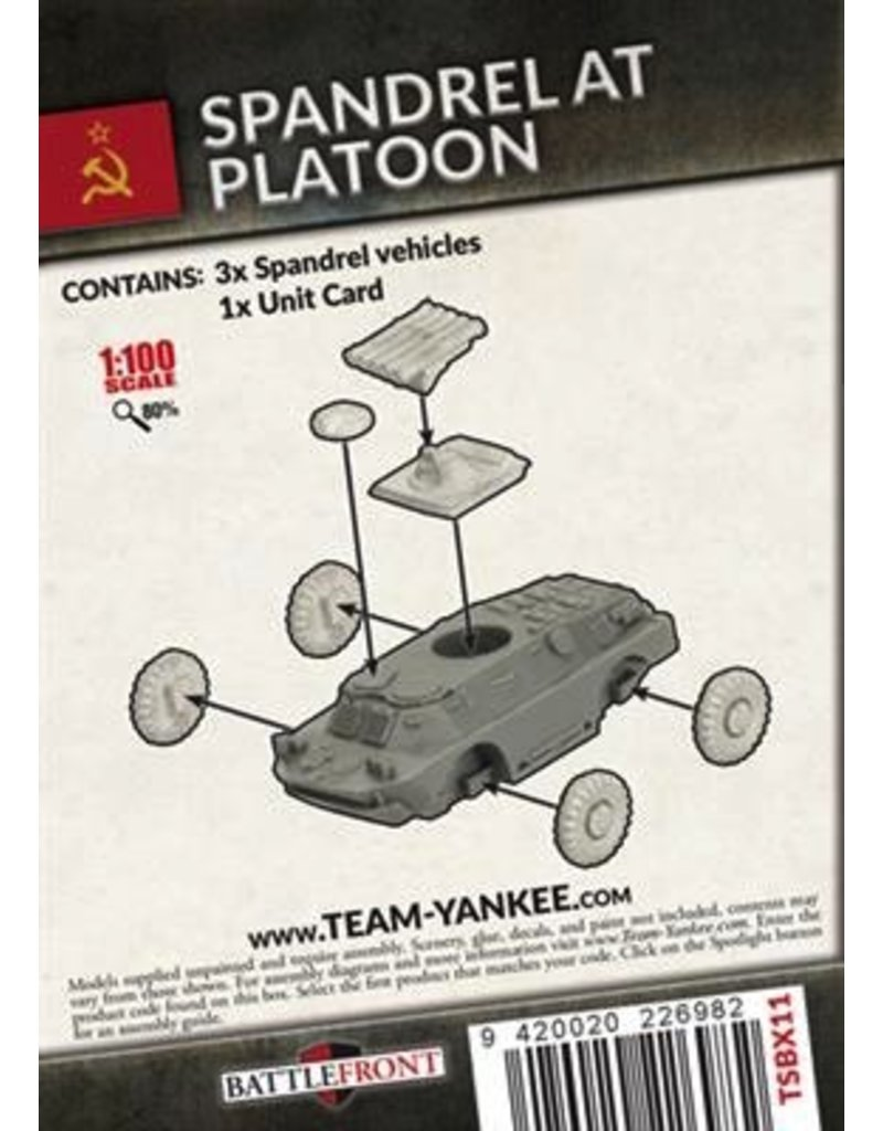 Team Yankee TSBX11 Spandrel Anti-Tank Platoon
