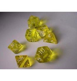 Chessex CHX23002 7 Set Translucent Yellow with White