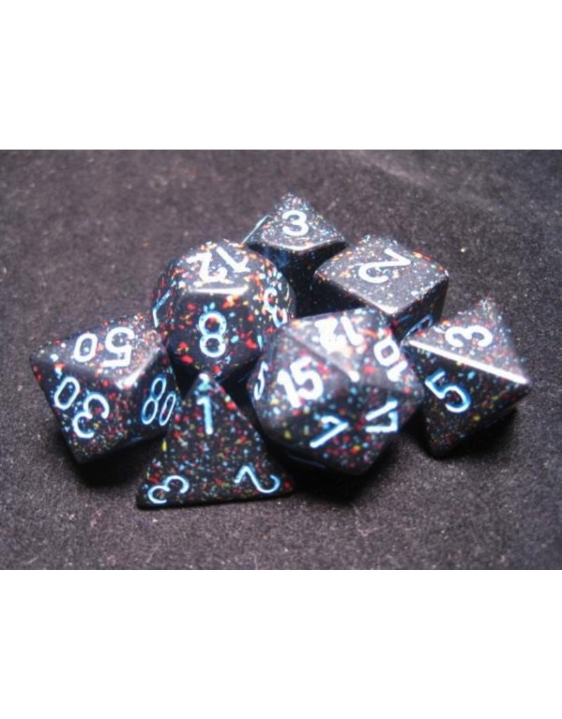 Chessex CHX25338 7 Set Speckled Blue Stars