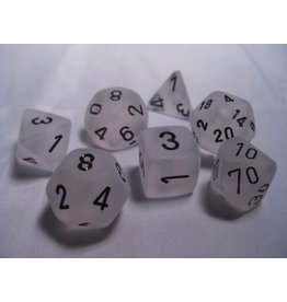 Chessex CHX27401 7 Set Frosted Clear with Black