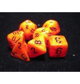 Chessex CHX27433 7 Set Vortex Orange with Black