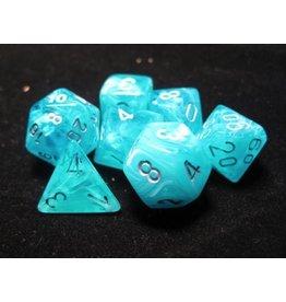 Chessex CHX27465 7 Set Cirrus Aqua with Silver