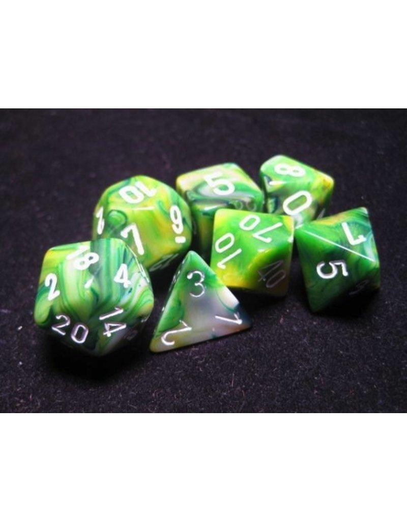 Chessex CHX27485 7 Set Phantom Green with White