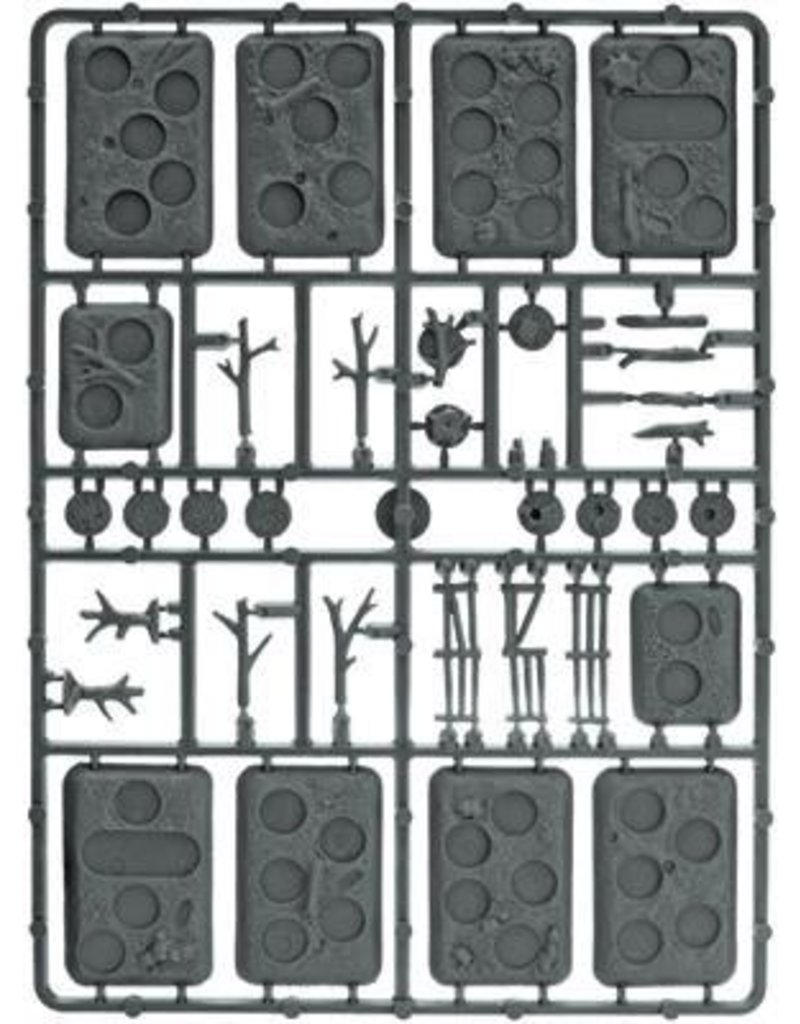 Flames of War XX107 Plastic Bases - Rural