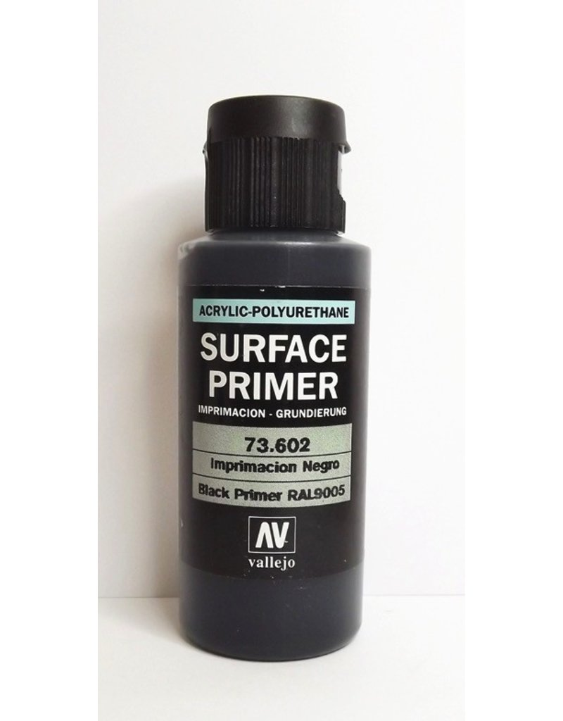 Vallejo VAL73602 Vallejo Surface Primer Black 60ml