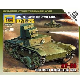 Zvezda ZVE6165 Zvezda WWII: Soviet T-26 Flamethrower Tank 1/100