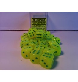 Chessex CHX27822 12mm d6 Vortex Electric Yellow with Green