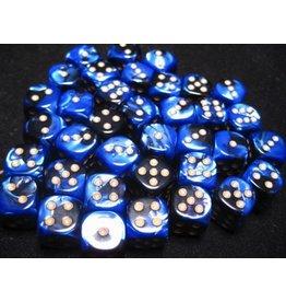 Chessex CHX26835 12mm d6 Gemini Black-Blue with Gold