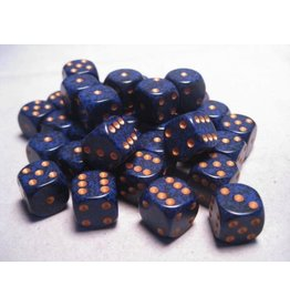 Chessex CHX25937 12mm d6 Speckled Golden Cobalt