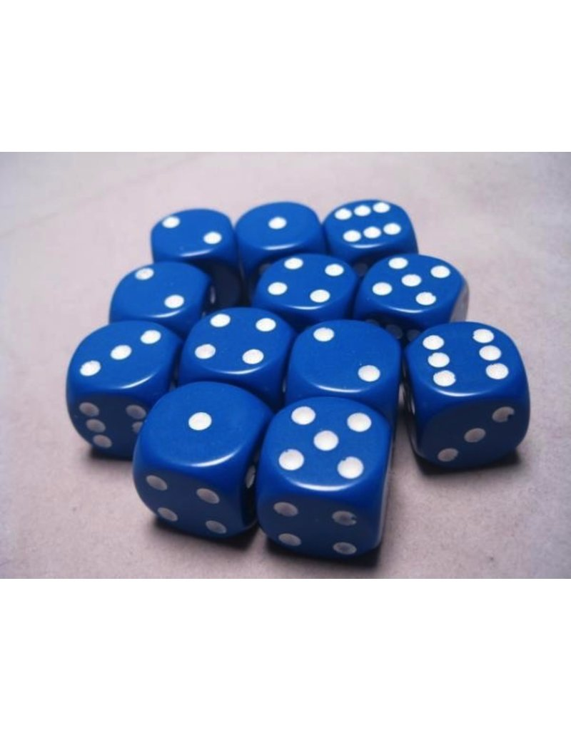 Chessex CHX25606 16mm d6 Blue with White Dice Set