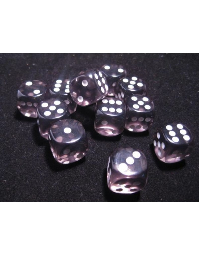 Chessex CHX23608 16mm d6 Translucent Smoke with White