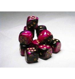 Chessex CHX26640 16mm d6 Gemini Black-Purple with Gold