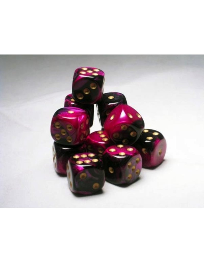 Chessex CHX26640 16mm d6 Gemini Black-Purple with Gold