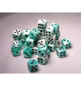 Chessex CHX26844 12mm d6 Gemini Teal-White with Black