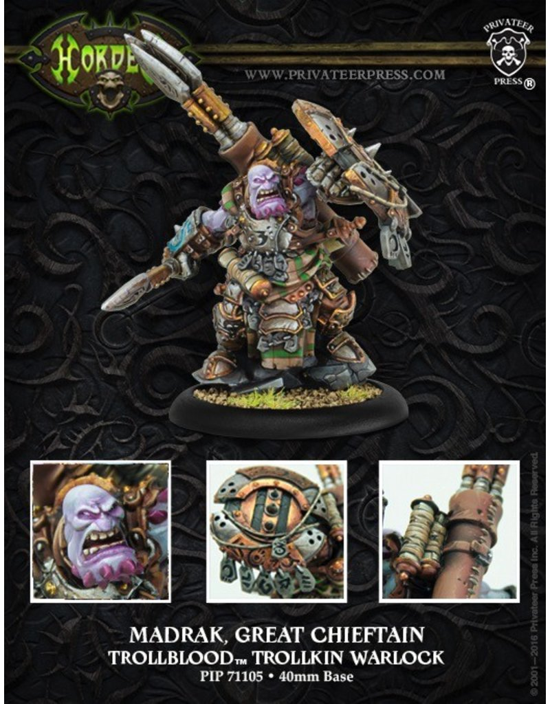 Warmachine Hordes\ PIP71105 Trollbloods: Madrak, Great Chieftan Warlock