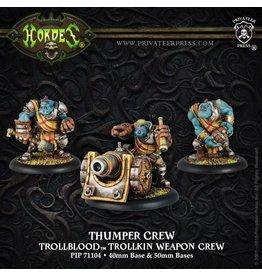 Warmachine Hordes\ PIP71104 Trollbloods: Thumper/Pummeler Weapon Crew