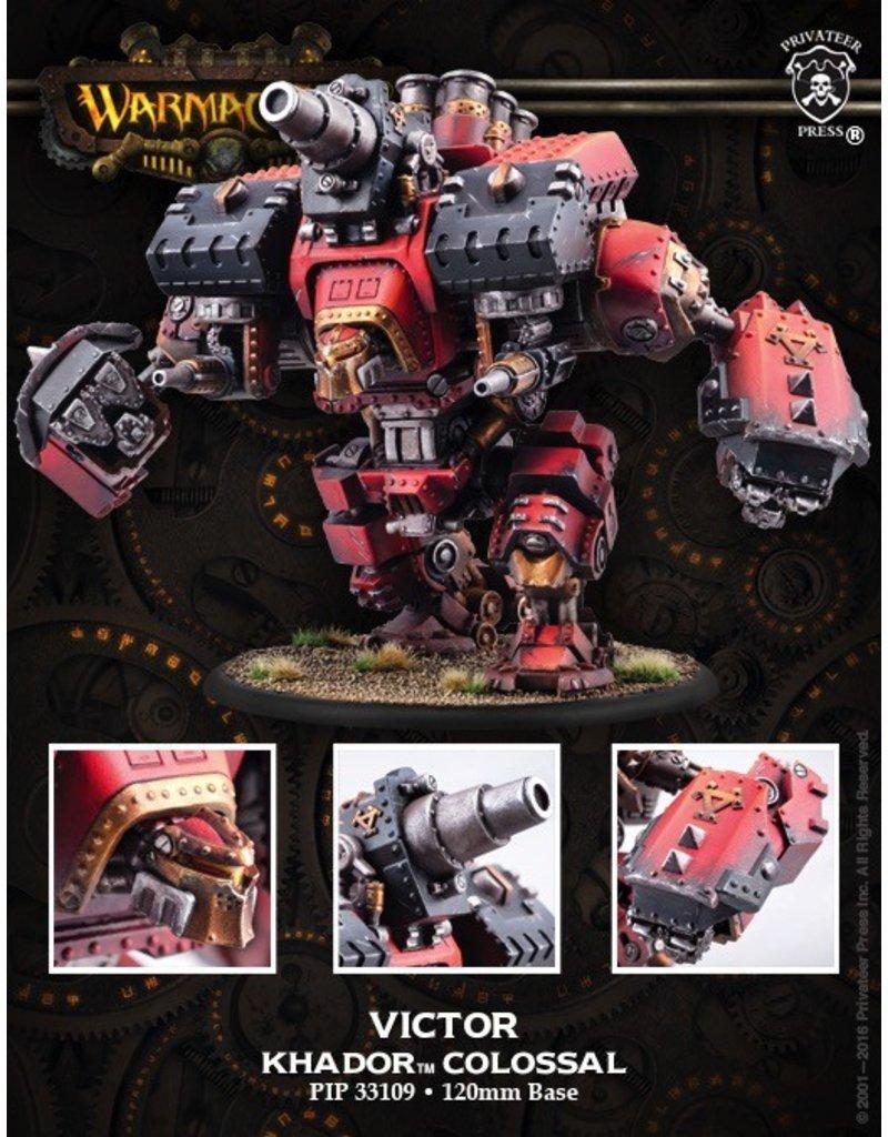 Warmachine Hordes\ PIP33109 Khador: Conquest/Victor Colossal Warjack<br />MSRP: $109.99