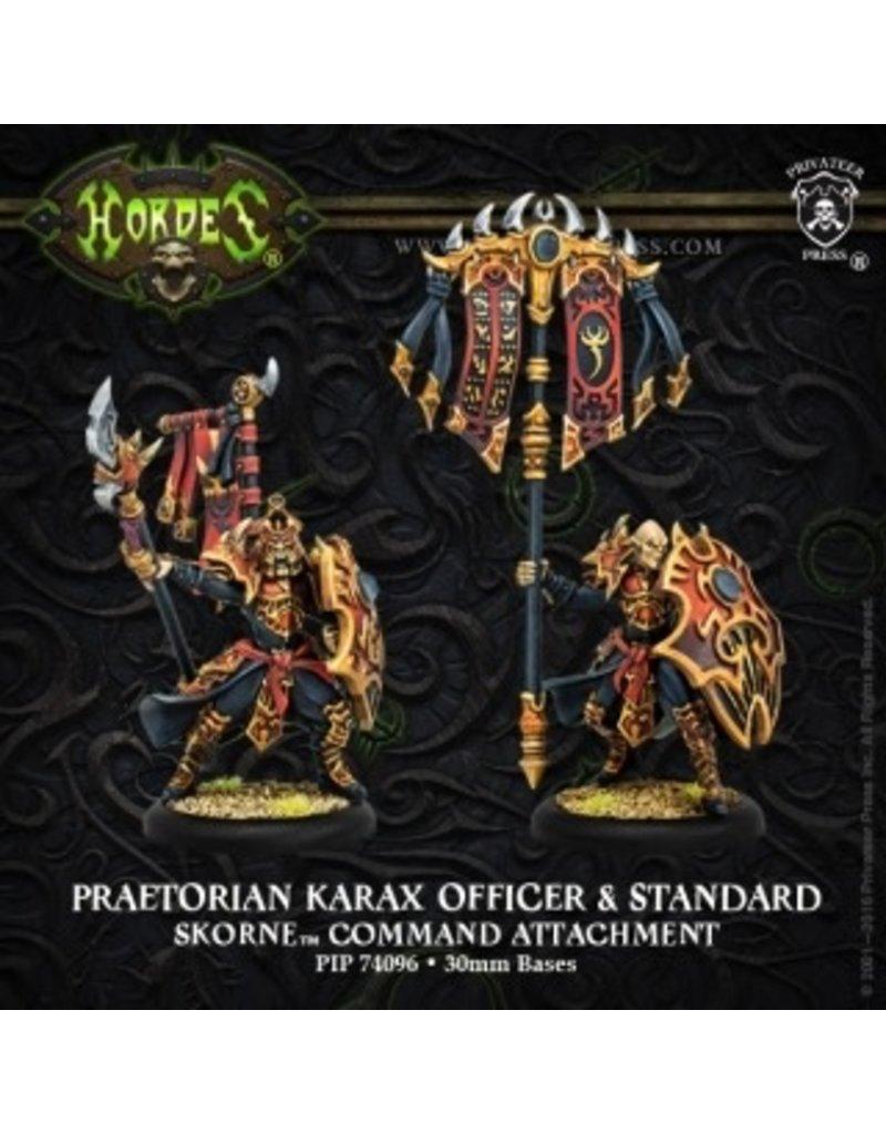 Warmachine Hordes\ PIP74096 Skorne: Praetorian Karax Commander & Standard