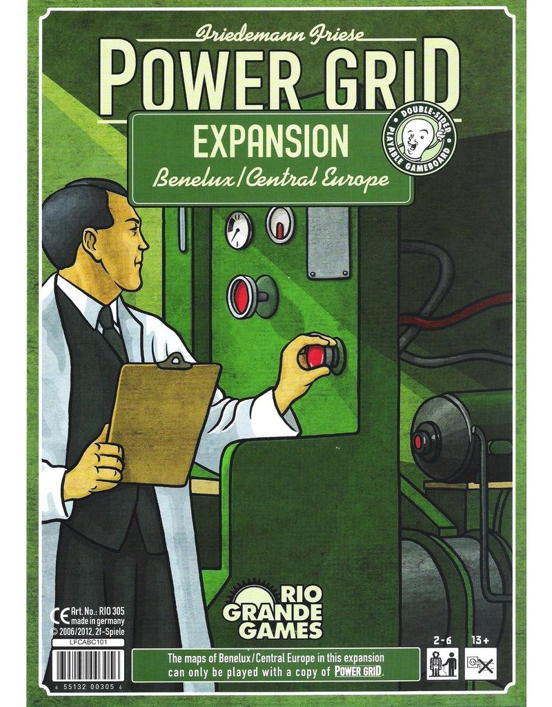 Rio Grande Games Power Grid Expansion: Benelux & Central Europe