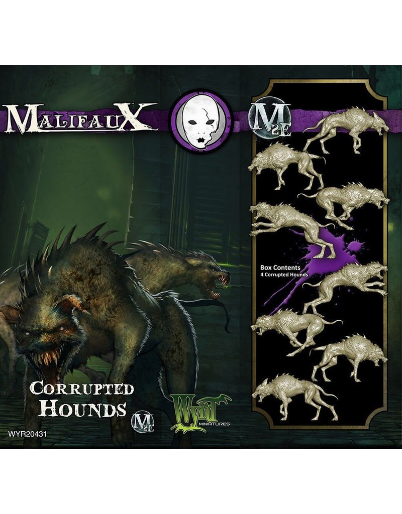 Wyrd miniatures WYR20431 Neverborn: Corrupted Hounds (4)