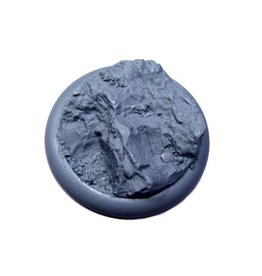 Secret Weapon Miniatures Round Lip: 50mm Rocky Bluff Base 01<br />
