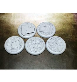 Secret Weapon Miniatures Round Lip: 40mm Scrap Yard (5)<br />