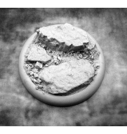 Secret Weapon Miniatures Round Lip: 50mm Rocky Bluff Base 03<br />