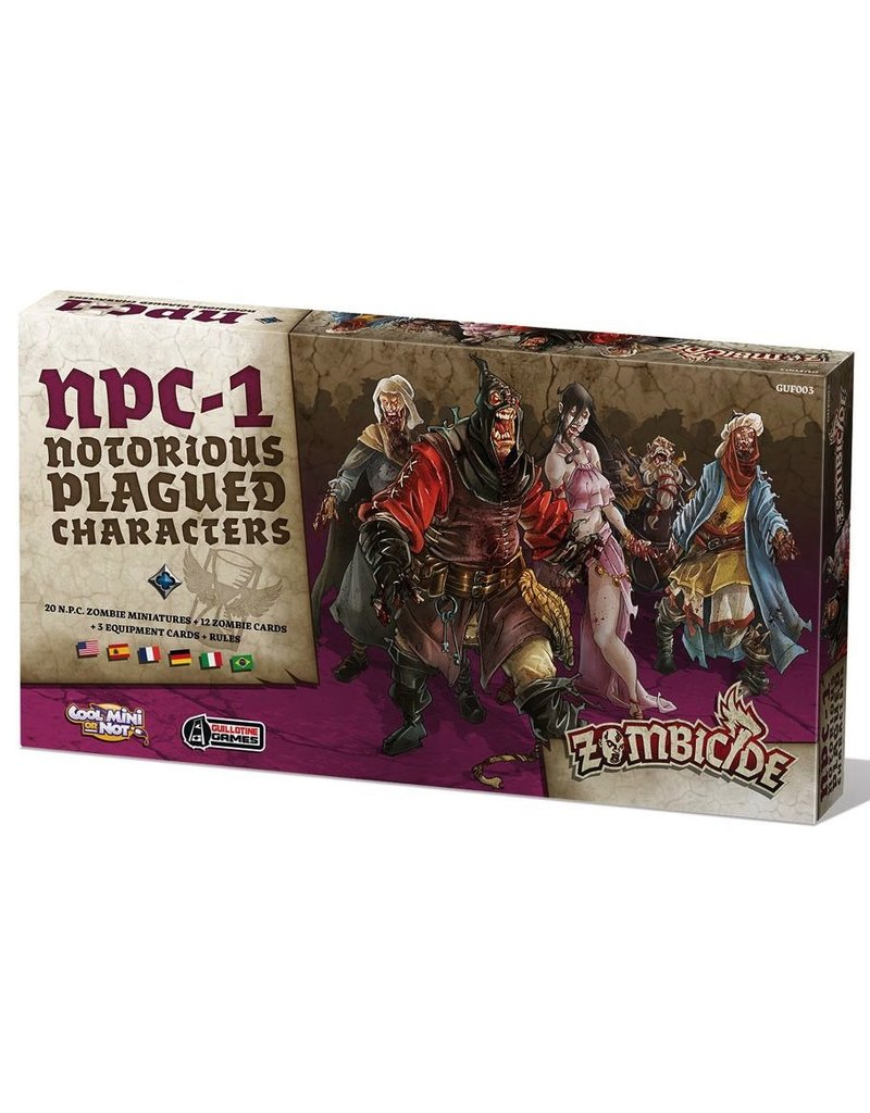 CoolMiniOrNot Zombicide: NPC Box 1 (Notorious Plagued Characters)