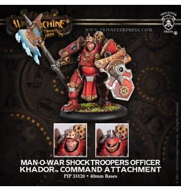 Warmachine Hordes\ PIP33120 Khador: Man-O-War Shocktrooper Officer Command Attachment