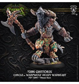 Warmachine Hordes\ PIP72095 Circle Orboros: Ghetorix Warpwolf Heavy Warbeast