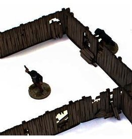 4Ground Miniatures DIRECT 28mm Dead Man's Hand: Add-on Yard Panel Fencing