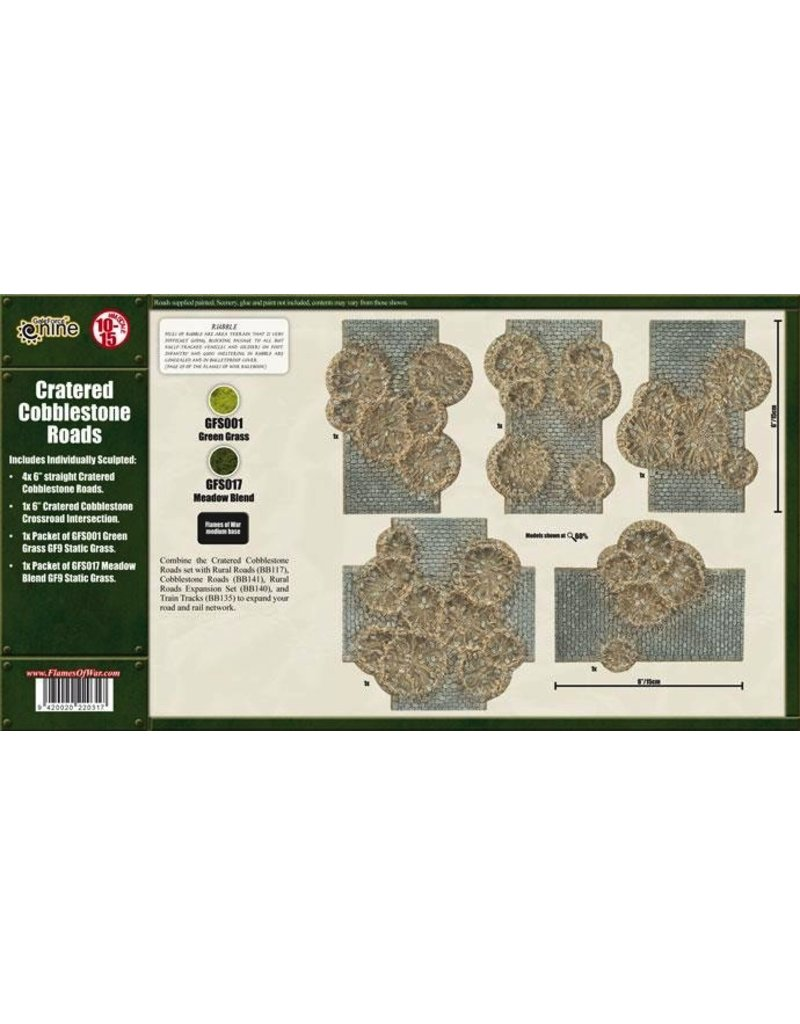 Flames of War BB142 Cratered Cobblestone Roads