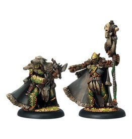 Warmachine Hordes\ PIP72047 Circle: Reeve of Orboros Chieftan & Standard