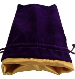 "Metallic Dice Games Purple Velvet Dice Bag with Gold Satin Lining (6""x8"")"